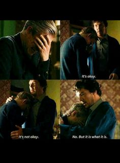 This whole scene from the second John started talking to Mary and Sherlock realized his friend was not okay, this whole scene from the very moment Martin Freeman opened his mouth just b r o k e m e Sherlock Fandom, Quotes Sherlock, Bbc Sherlock Holmes, Jim Moriarty, Sherlock Season 4, Sherlock Cumberbatch, Supernatural Quotes, Watson Sherlock, Supernatural Fandom