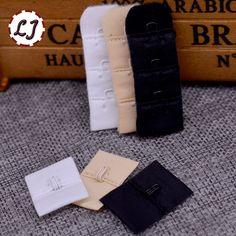 10pcs/lot Ladies Useful Bra black white Extenders Strap Extension 1 Hooks 1 Rows Adjustable Belt Buckle button accessories DIY