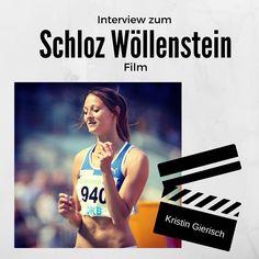 Dreisprung-Stern Kristin Gierisch springt sich im neuen Schloz Wöllenstein Film in Szene.