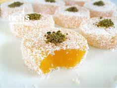 Mandalinalı Lokum (Videolu) Caramel Candy, Turkish Delight, Candy Recipes, Healthy Dinner Recipes, Panna Cotta, Food And Drink, Sweets, Baking, Breakfast