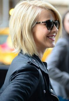 Julianne Hough - angled bob. great haircut