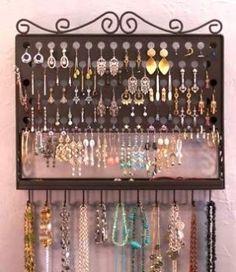 Jewelry Organization. Wall mounted. :) by Jen Munday