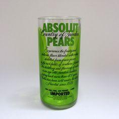 turning liquor bottles into drinking glasses.