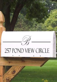 Add some custom-crafted charm to your mailbox and make it easier for friends and family members to locate your home with a personalized mailbox decal -- you can choose from 20 colors and 16 styles.