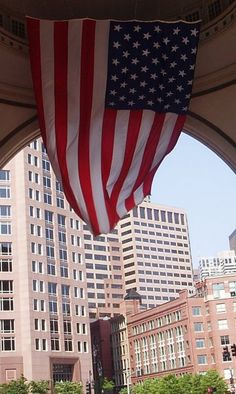 boston memorial day flag display