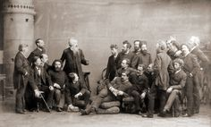 Russian artists in discussion (c1890)    Photographer: Andrey Denier, St Petersburg, Russia