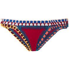 Kiini Soley Classic Bikini Bottom (395 BRL) ❤ liked on Polyvore featuring swimwear, bikinis, bikini bottoms, bikini, swimsuit, swim, red, red swimsuit, swimming bikini and bikini bottom