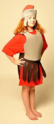 Roman Solider Velcro Costume - We probably won't do it, but pinning it anyway for those that would :)