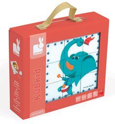 Janod-Blocks and Puzzles for Kids-KubKid 9 Blocks Circus