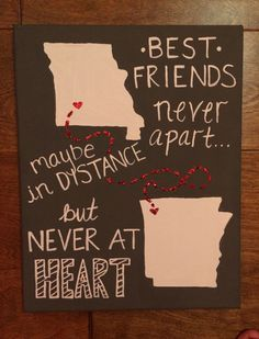 Diy Gifts For Friends Going To College Canvases 66 Ideas Presents For Best Friends, Birthday Gifts For Best Friend, Diy Gifts For Friends, Bff Gifts, Best Friend Gifts, Birthday Thank You, Birthday Presents, Diy Craft Projects, Diy Crafts
