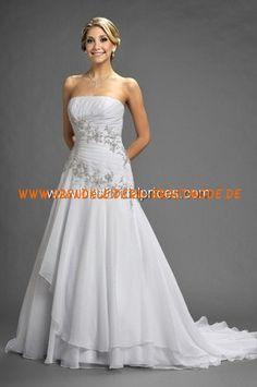 2013 neue Maßgeschneiderte Brautkleider aus Chiffon und Satin mit Applikation