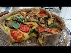 Tarta integral de berenjenas, tomates y mozzarella - Recetas – Cocineros Argentinos Mozzarella, Vegetable Pizza, Quiche, Queso, Vegetables, Breakfast, Food, Videos, Youtube