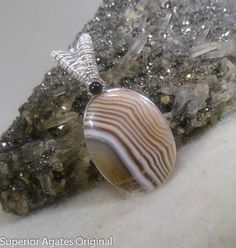 Minnesota Lake Superior Agate Wire Wrapped Silver Stone Pendant | Wire Wrapped Stone | Scoop.it