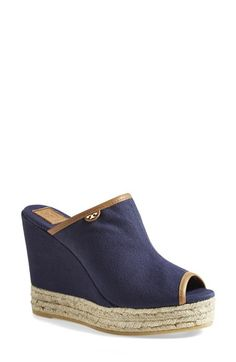 Tory Burch Canvas Wedge Sandal (Women) available at #Nordstrom