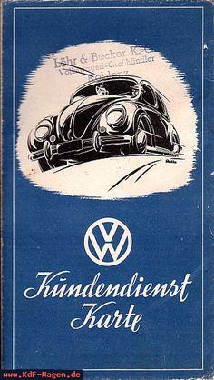 VW - 1950 - VW Kundendienst Karte - 12.50 - [6617]-1