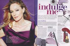 Woman & Home Magazine page 94 & 95 - Issue January 2015 - Features the Ariane Poole, Gel Eyeliner in Majesty.