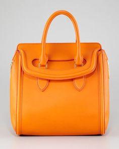 Alexander McQueen Medium Heroine Satchel Bag Orange Alexander McQueen