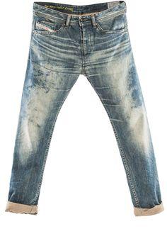 Diesel jeans clothing shoes watches apparel underwear and sunglasses White Biker Jeans, Biker Jeans Men, Denim Jeans Men, Cut Jeans, Azul Indigo, Rocker Look, Kick Flare Jeans, Denim Ideas, Diesel Jeans