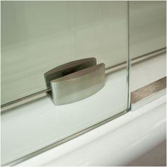 LessCare Ultra-C x Single Sliding Frameless Shower Door Finish: Chrome Glass Shower Panels, Frameless Shower Doors, Cleaning Shower Glass, Bathroom Remodel Pictures, Bathtub Doors, Shower Base, Shower Cleaner, Shower Enclosure, Glass Design