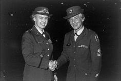 Ellen Brown Steel at her retirement ceremony, 1969 - The Betty H. Carter Women Veterans Historical Project - University Archives - UNCG University Libraries