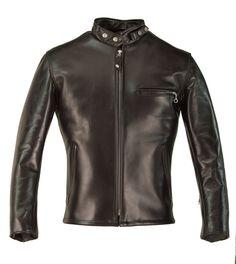 Schott NYC - 641HH racer leather motorcycle jacket in horsehide