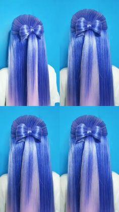 Hair Twist Styles, Medium Hair Styles, Short Hair Styles, Bun Hairstyles For Long Hair, Braids For Long Hair, Hair Style Vedio, Long Hair Video, Hair Videos, Hair Hacks