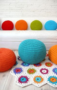 $53 crochet floor pillow by lacasadecoto love these pillows
