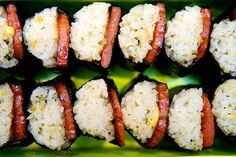 Cut into neat bites of musubi. | 21 Sexy Ways To Eat Spam