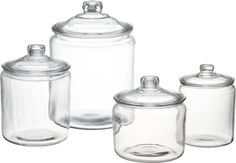 *******Heritage Hill Glass Jars with Lids  | Crate....My dream would be to have at least 2 sets plus 4 of the 16oz size:)