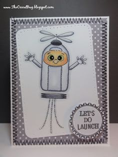 The Cricut Bug: Peachy Keen Reveal and Some Challenge Cards