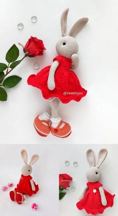 Amigurumi Bunny Free Crochet Patterns and Tutorials – Amigurumi Free Patterns – Amigurumi Free Pattern İdeas. Crochet Teddy Bear Pattern, Crochet Baby Toys, Crochet Rabbit, Easter Crochet, Crochet Doll Pattern, Crochet Patterns Amigurumi, Free Crochet, Knitted Bunnies, Animal Knitting Patterns
