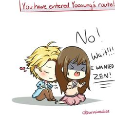 And that's pretty much what happened to me when I first played MM, I was aiming for zen but I got yoosung (BTW I really love yoosung! )