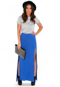 Madalyn Double Split Maxi Skirt-skirts-missguided- I like the look of the slit maxi with a looser top and with layered necklaces