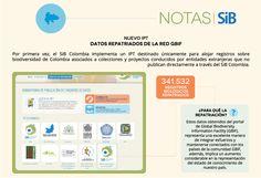 Datos colombiano repatriados desde la el portal de datos de GBIF