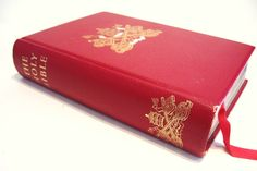 1958 Family Holy Bible Douay and Westminster Text  Maps Color Plates