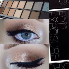 Look by @jennaroisen using the #Smashbox Full Exposure Palette available here:  #beautybridge
