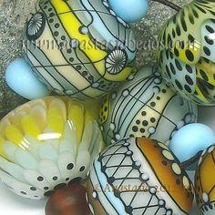 "ANASTASIA--lampwork beads--(7)--""LOST SUMMER""--SRA   eBay"