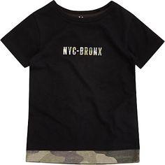 Mini boys black camo T-shirt £8.00