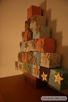 Calendrier sapin noël carton - DIY - Tutoriel #calendrierdelavent