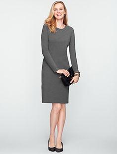 Talbots - Zip-Shoulder Ponte Dress | Dresses | Misses - zip shoulder - nice accent.