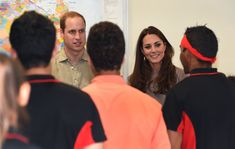 Prince William, Duke of Cambridge and Catherine, Duchess of Cambridge meet students during a visit to the National Indigenous Training Academy at Yulara on April 22, 2014 in Ayers Rock, Australia. The Duke and Duchess of Cambridge are on a three-week tour of Australia and New Zealand, the first official trip overseas with their son, Prince George of Cambridge.