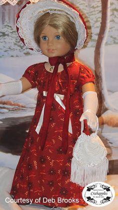 PURSE - Crabapples Edwardian Fancy Bundle Doll Clothes Pattern 18 inch American Girl Dolls | Pixie Faire