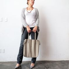 Make a faux leather tote bag, following this easy step by step tutorial.