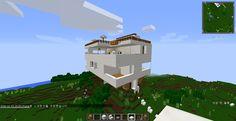 This is my handmade house.It has nine rooms,three floors.