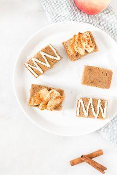 Apple Cinnamon Baked Pancake Bars With Vegan Vanilla Maple