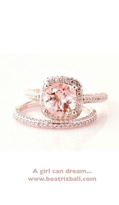 Hmm love the style but not sure if I could wear a pink ring the rest of my life! It is beautiful though! Orrrrr it could be my #anniversaryring
