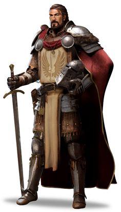 m Fighter noble Plate Armor Helm Cloak Sword image