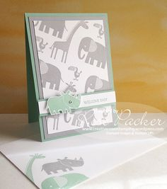 Another favourite stamp set on the retirement list is Zoo Babies. I just love all the cute little animals and they are just so perfect for baby and toddler birthday cards. Using the sketch o…