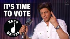 "Shah Rukh Khan has urged the people of India to vote by releasing a song titled ""Karo matdan"", sung by the superstar. Music Labels, Music Composers, All News, Political Party, Bollywood News, Shahrukh Khan, Favorite Person, New Music, The Voice"