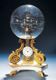 1770 Table Clock With Planetarium The planetarium clock pictured below is an absolute work of art. It was made in 1770 in Paris